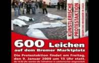 Die Performance der Leichen von Gaza in Bremen