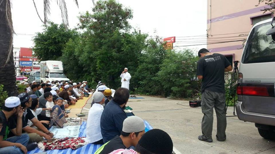 เชคริฎอ อะหมัด สมะดี ประธานมูลนิธิมุสลิมเพื่อสันติ จัดกิจกรรมละหมาดขอฝน