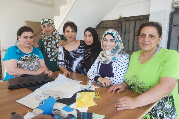 Left to right: Abeer, Rahaf, Dr. Janette Habashi, Khariye, Rasha and Shireen