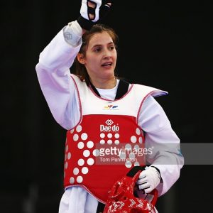 XXX of ZZZ competes in the (discipline & session name) during day four of the Baku 2015 European Games at Crystal Hall on June 16, 2015 in Baku, Azerbaijan.