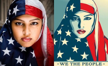 Meet the Man Behind the Iconic Patriotic Muslim Woman Photo