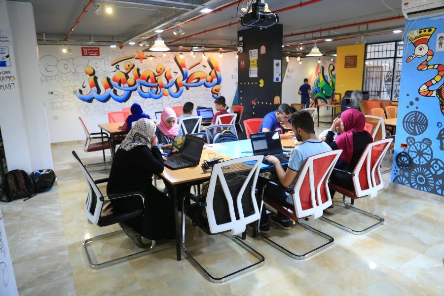 Gaza Sky Geeks Co-working space. Credit- Gaza Sky Geeks2F Mercy Corps