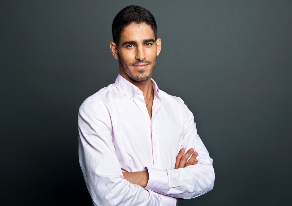 HuffPost Live host Ahmed Shihab-Eldin poses for a portrait at the AOL Huffington Post headquarters in New York on Thursday Aug. 9, 2012. (Damon Dahlen, AOL)