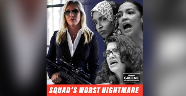 """Why Marjorie Taylor Greene's Post About Being the Squad's """"Worst Nightmare"""" Isn't """"Just a Meme"""" thumbnail"""