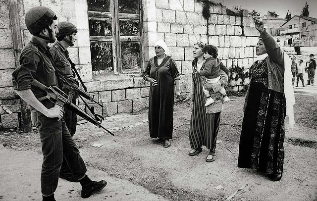 palestinian women confrontation