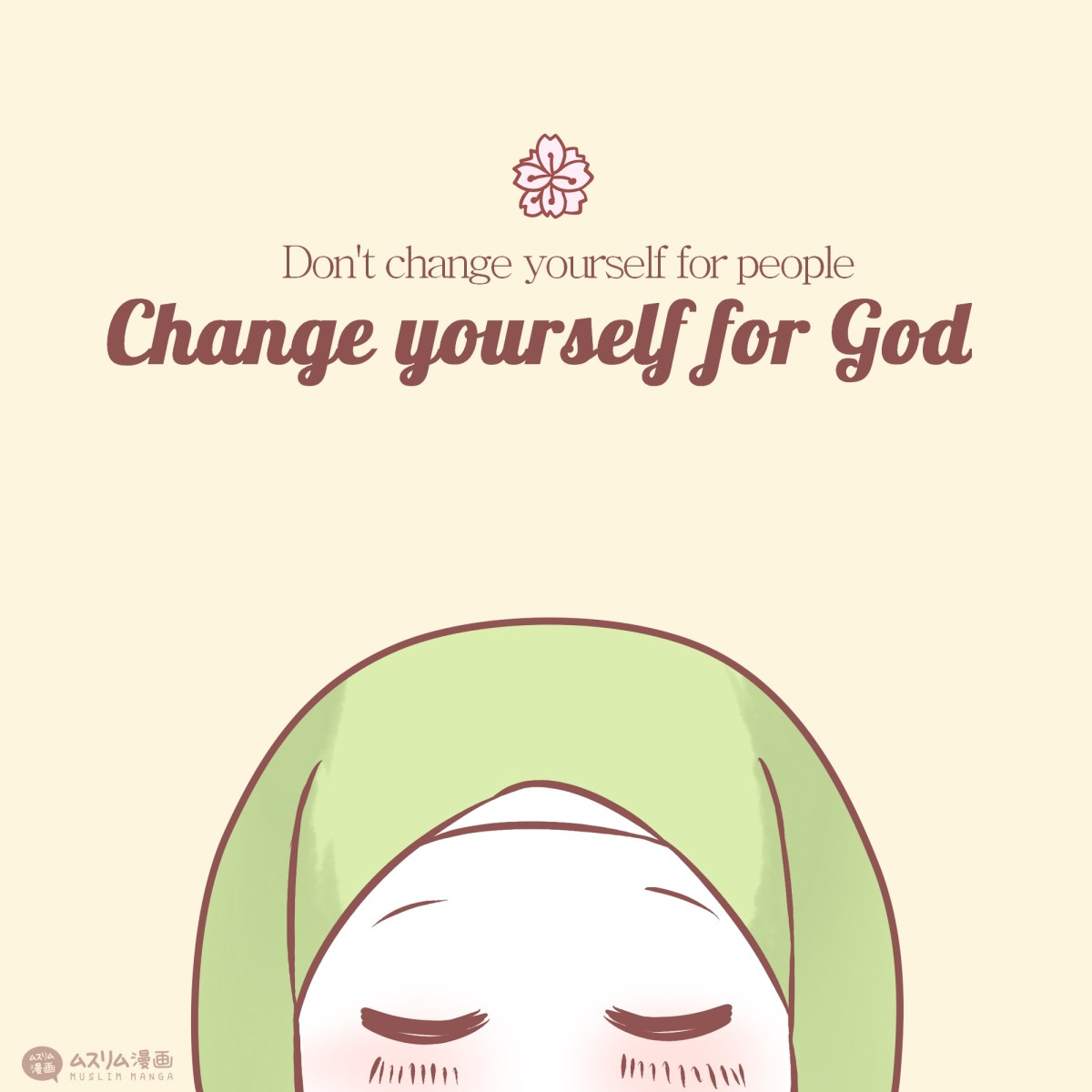 change yourself for god