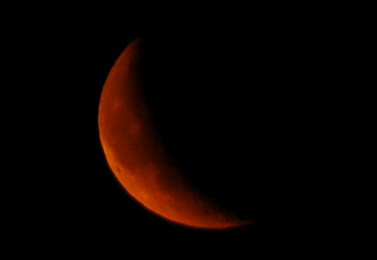 Image result for waxing blood moon in the dark
