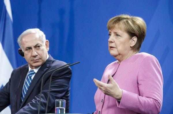 German Chancellor Angela Merkel and Israeli Prime Minister Benjamin Netanyahu.