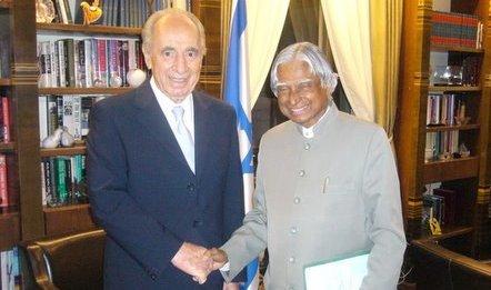 Shemon Peres and APA Abdul Kalam