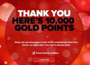 Club Carlson gifted me 10,000 points this Christmas
