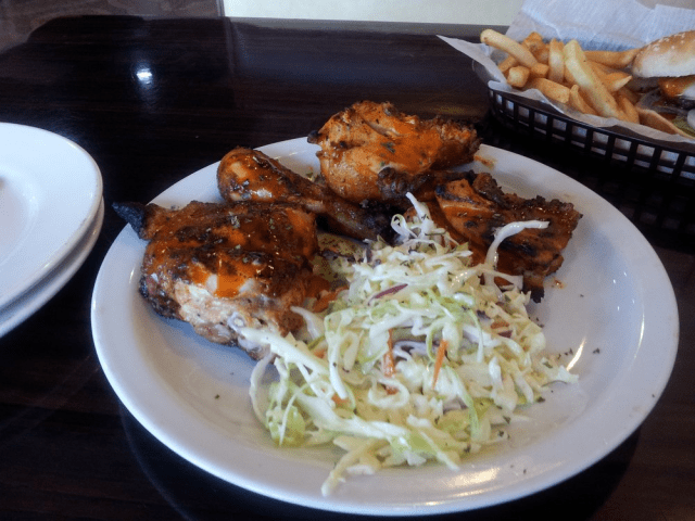 Charcoal Zyka chicken and salad in Halal Food Restaurants in Orlando Florida