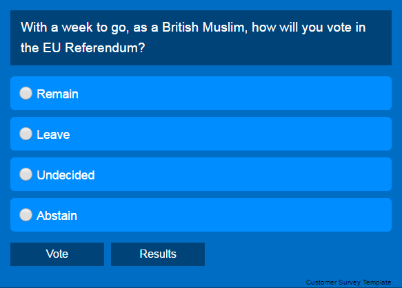 EU Referendum Poll and British Muslims