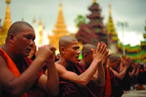 Violent Monks Hardline Buddhist nationalists targeting Muslim minorities in Sri Lanka
