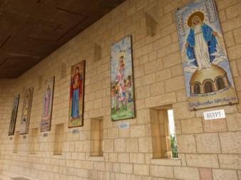 14. Nazaret - wizerunki Matki Boskiej w Bazylice Zwiastowania