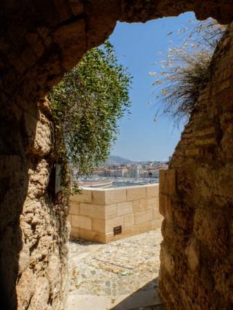 Widok z tarasu muzeum na stary port