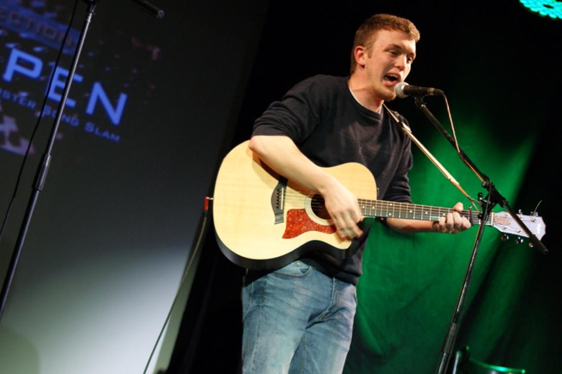 "Eröffnete den Abend: #open_champion 2014 Kilian ""LIAN"" Unger"