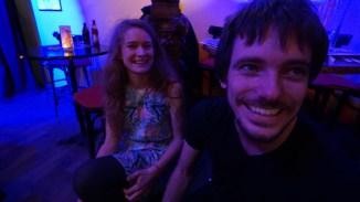 Auch abseits der Bühne gute Laune: Lucie und Peter