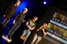 Die Glücklichen Gewinner: Victoryaz und Chris Conway mit Michael Bohlmann und Alex Sebastian