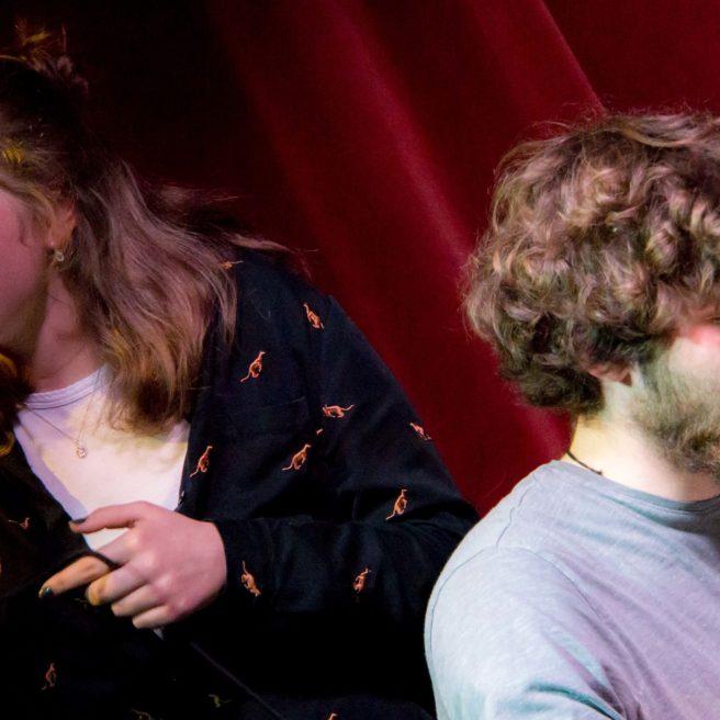 Lotte und Paul aus Augsburg mit eigenem Repertoire, perfekter Abstimmung und viel Zustimmung aus dem Publikum