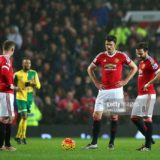 during the Barclays Premier League match between Manchester United and Norwich City at Old Trafford on December 19, 2015 in Manchester, England.