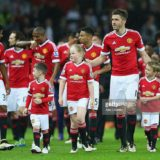 during the Barclays Premier League match between Manchester United and AFC Bournemouth at Old Trafford on May 17, 2016 in Manchester, England.