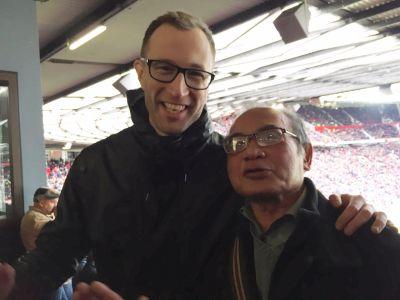 Björn hamnade på platsen bredvid Mr. Miyagi under Arsenalmatchen