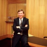 1984:  Portrait of Manchester United manager Alex Ferguson.  Mandatory Credit: Shaun Botterill /Allsport
