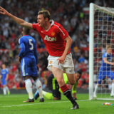 MANCHESTER, ENGLAND - APRIL 20:  William Keane of Manchester United celebrates scoring to make it 2-0 during the FA Youth Cup Semi Final 2nd Leg between Manchester United and Chelsea at Old Trafford on April 20, 2011 in Manchester, England.  (Photo by Michael Regan/Getty Images)