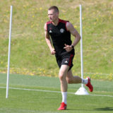 BAGSHOT, ENGLAND - JULY 21:  Scott McTominay of Manchester United in action during a pre-season training session at Pennyhill Park on July 21, 2021 in Bagshot, England. (Photo by Matthew Peters/Manchester United via Getty Images)