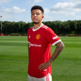 MANCHESTER, ENGLAND - JULY 23:   New signing  Jadon Sancho of Manchester United is unveiled at Carrington Training Ground on July 23, 2021 in Manchester, England. (Photo by Ash Donelon/Manchester United via Getty Images)