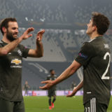 TURIN, ITALY - FEBRUARY 18: Daniel James of Manchester United celebrates scoring their fourth goal during the UEFA Europa League Round of 32 match between Real Sociedad and Manchester United at Allianz Stadium on February 18, 2021 in Turin, Italy. (Photo by Matthew Peters/Manchester United via Getty Images)