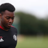 MANCHESTER, ENGLAND - AUGUST 27: (EXCLUSIVE COVERAGE) Anthony Elanga of Manchester United in action during a first team training session at Carrington Training Ground on August 27, 2021 in Manchester, England. (Photo by Matthew Peters/Manchester United via Getty Images)