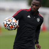 MANCHESTER, ENGLAND - AUGUST 27: (EXCLUSIVE COVERAGE) Eric Bailly of Manchester United in action during a first team training session at Carrington Training Ground on August 27, 2021 in Manchester, England. (Photo by Matthew Peters/Manchester United via Getty Images)