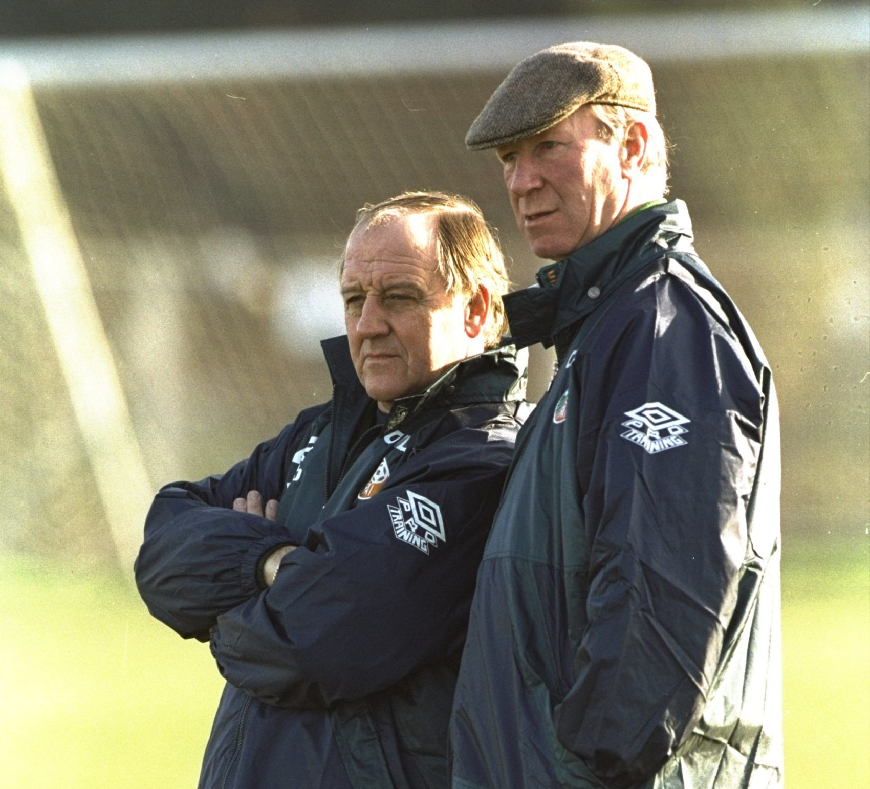 Ireland Coach Maurice Setters and Manager Jack Charlton