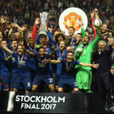 STOCKHOLM, SWEDEN - MAY 24:  Wayne Rooney of Manchester United lifts The Europa League trophy after the UEFA Europa League Final between Ajax and Manchester United at Friends Arena on May 24, 2017 in Stockholm, Sweden.  (Photo by Mike Hewitt/Getty Images)