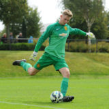 KIRKBY, ENGLAND - AUGUST 30:  (THE SUN OUT, THE SUN ON SUNDAY OUT) Manchester United goalkeeper Dean Henderson in action during the Barclays Premier League Under 18 fixture between Liverpool and Manchester United at the Liverpool FC Academy on August 30, 2014 in Liverpool, England.