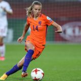 ROTTERDAM, NETHERLANDS - JULY 20: Jackie Groenen of the Netherlandscontrols the ball during the UEFA Women's Euro 2017 Group A match between Netherlands and Denmark at Sparta Stadion on July 20, 2017 in Rotterdam, Netherlands. (Photo by Maja Hitij/Getty Images)