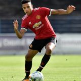 COLERAINE, NORTHERN IRELAND - JULY 22: Mason Greenwood of Manchester United during the NI Super Cup game between Manchester United u18s and Northern Ireland u18s at the Showgrounds on July 22, 2017 in Coleraine, Northern Ireland. (Photo by Charles McQuillan/Getty Images)
