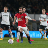 DERBY, ENGLAND - MARCH 05: Juan Mata of Manchester United in action during the FA Cup Fifth Round match between Derby County and Manchester United at Pride Park on March 05, 2020 in Derby, England. (Photo by Matthew Peters/Manchester United via Getty Images)
