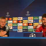BERN, SWITZERLAND - SEPTEMBER 13: Manager Ole Gunnar Solskjaer of Manchester United speaks during a press conference ahead of a first team training session at Stadion Wankdorf on September 13, 2021 in Bern, Switzerland. (Photo by Matthew Peters/Manchester United via Getty Images)