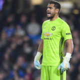 LONDON, ENGLAND - OCTOBER 30: Sergio Romero of Manchester United in action during the Carabao Cup Round of 16 match between Chelsea and Manchester United at Stamford Bridge on October 30, 2019 in London, England. (Photo by Michael Regan/Getty Images)