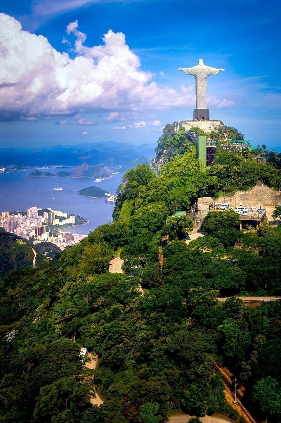 Christ the Redeemer statue on the top of a mountain, Rio De Janeiro | Brazil Travel Guide