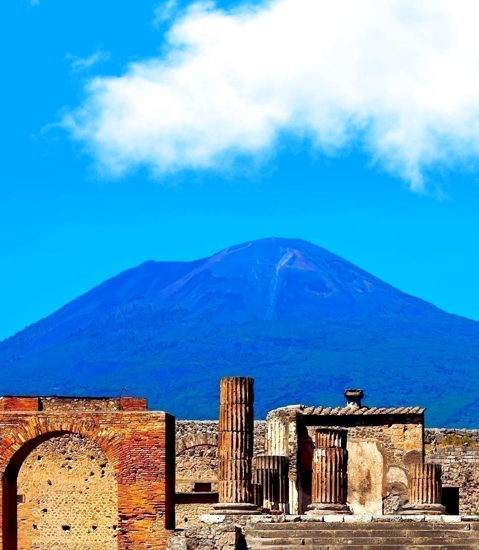 Mount Vesuvius and ruins of ancient town Pompeii | Italy Travel Guide