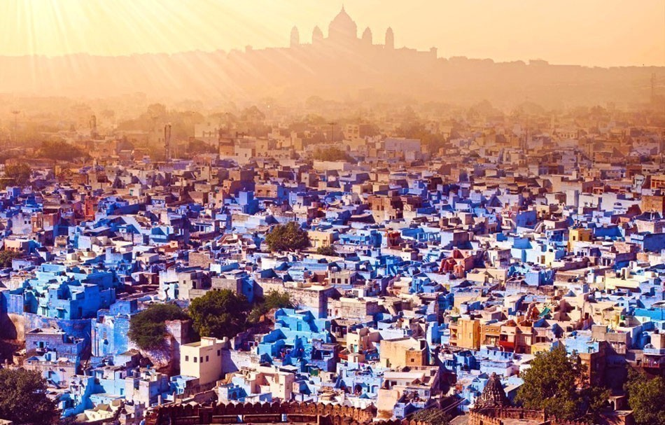 Known as the blue city, Jodhpur in India is a sight that will remain with you forever once you see it from the royal balconies of the towering Mehrangarh Fort. | 10 of the Most Colorful Cities in the World