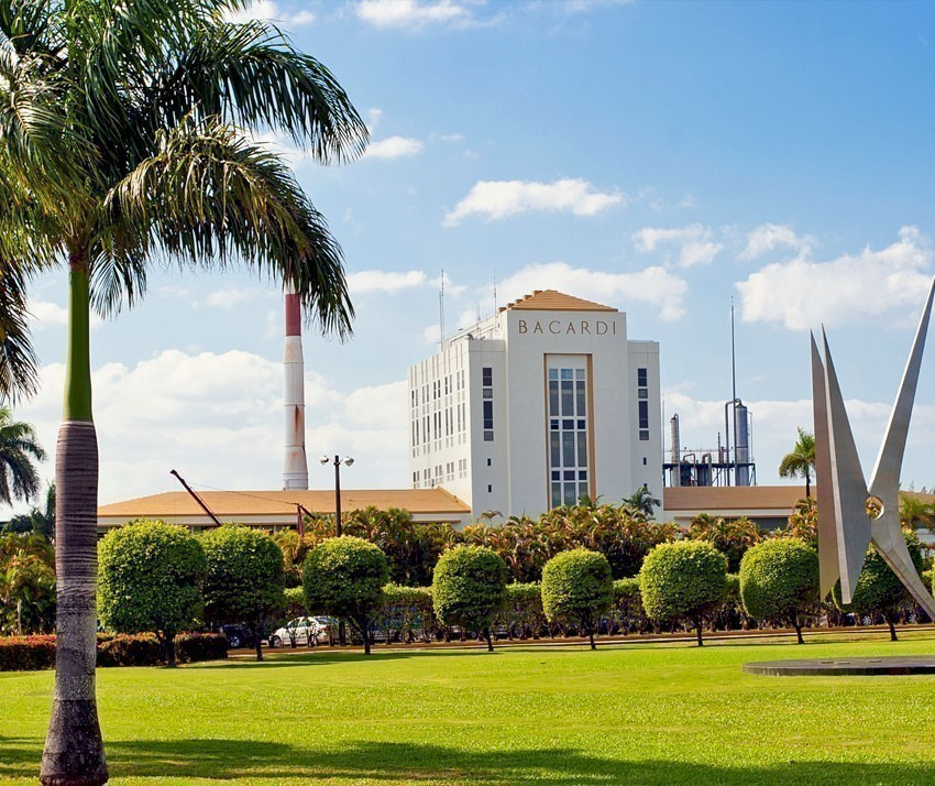 View of Bacardi Rum Factory in Puerto Rico. Bacardi is the largest privately held, family-owned spirits company in the world | Puerto Rico Travel Guide