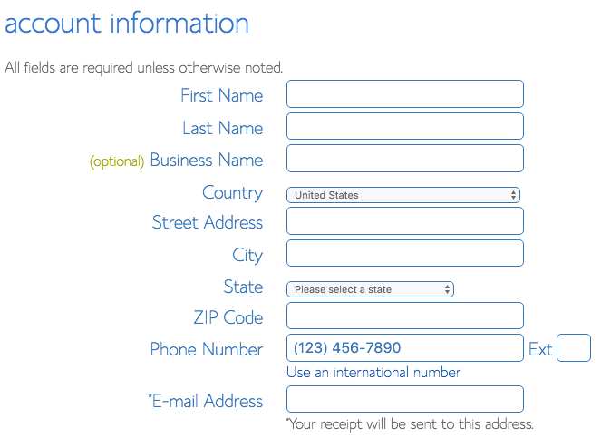 4- Account Information