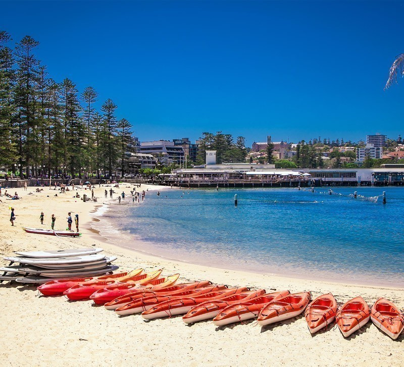 The golden stretch of nearly two kilometers, Manly beach is Sydney's second most popular shore fringed by concrete blocks and Norfolk Island pines | Top 10 Australian Beaches That You Must Include in Your Bucket List