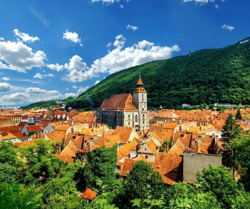 Brasov seen from above with the Black Church | 5 Reasons Why Romania is the Country Every Traveler Needs to Visit