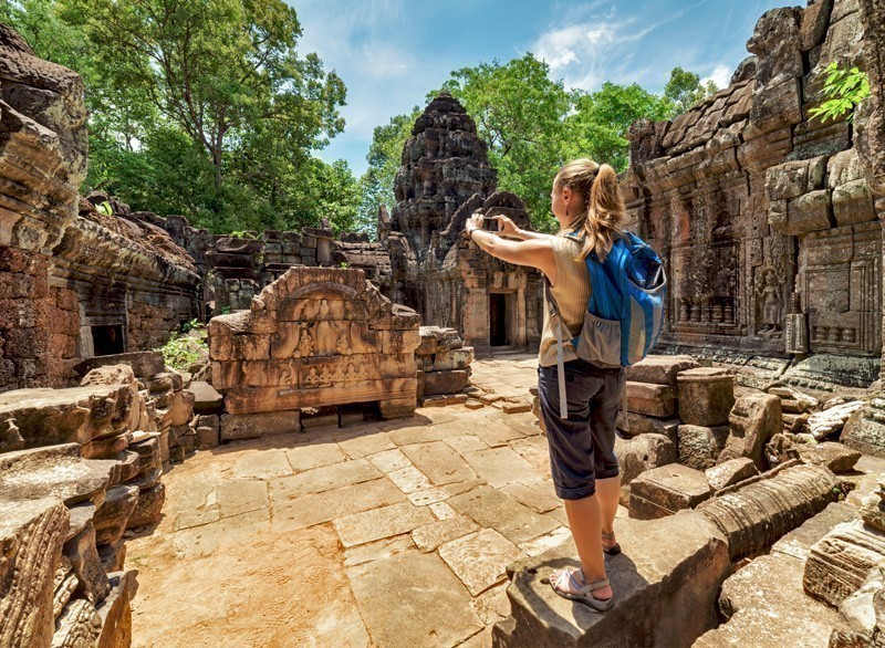 Preah Khan temple in Angkor. Siem Reap, Cambodia | 10 Must-Visit Cities in Asia