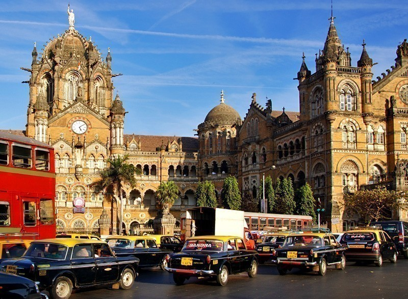 Chhatrapati Shivaji Terminus (CST) is a UNESCO World Heritage Site and an historic railway station in Mumbai, India | 10 Must-Visit Cities in Asia